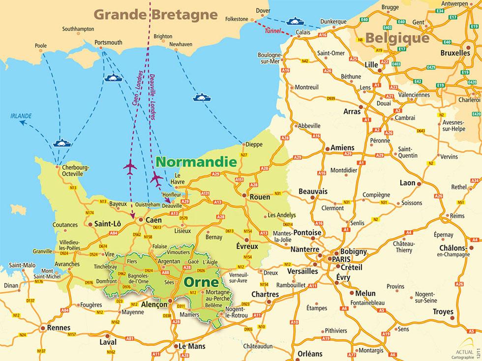 Comment venir dans l 39 orne en normandie - Office du tourisme de bagnoles de l orne ...